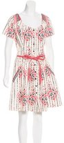 Suno Floral Print A-Line Dress