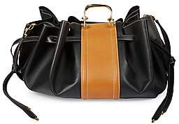 Alexander McQueen Women's The Story Drawstring Leather Tote