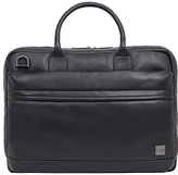 Knomo Foster Leather Briefcase for 14 Laptops, Black
