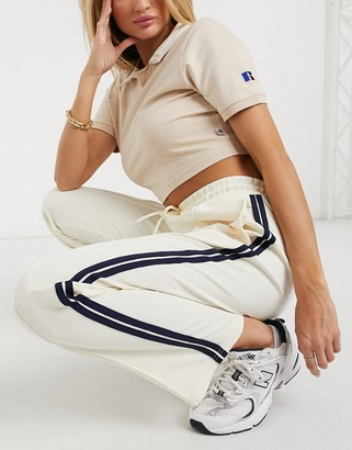 Russell Athletic archive joggers in cream