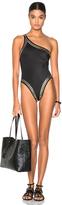 Norma Kamali Stud Mio Swimsuit in Black.