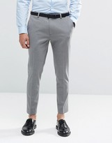 Asos Super Skinny Cropped Pants in Gray
