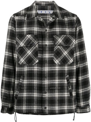 Off-White Arrows checkered overshirt