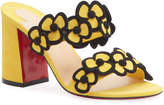Christian Louboutin Tres Pansy 85mm Red Sole Mule Sandals