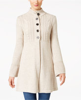Style&Co. Style & Co. Petite Mock-Neck Sweater Coat, Only at Macy's