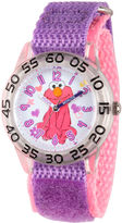 Sesame Street Girls Purple Elmo Time Teacher Strap Watch W003209