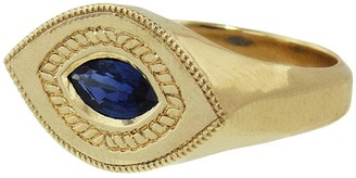 Blue Sapphire Baby Brutus Ring