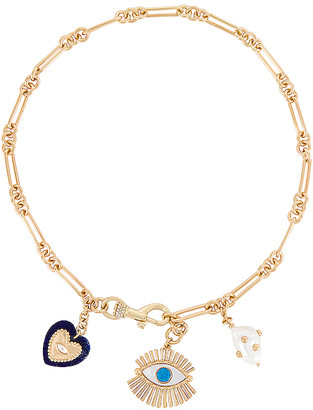 Rebecca Minkoff Evil Eye Charm Necklace