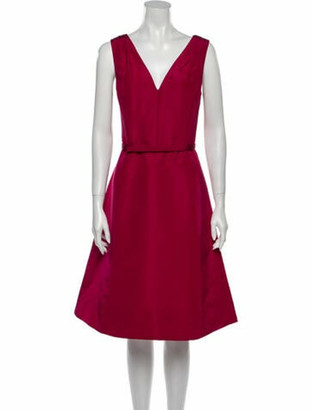 Oscar de la Renta 2017 Knee-Length Dress w/ Tags Red