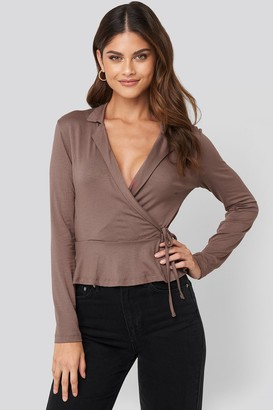 Trendyol Side knot Detailed Wrap Blouse