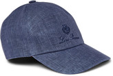 Loro Piana - Embroidered Linen And Cotton-blend Baseball Cap