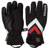 Bogner Black Branded Ski Gloves