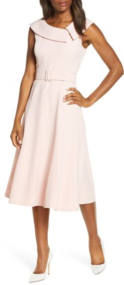 Harper Rose Envelope Collar Sleeveless Midi Dress