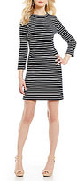 Alex Marie Amber Striped 3/4 Sleeve Dress