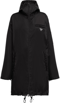 Prada Logo Plaque Parka Coat