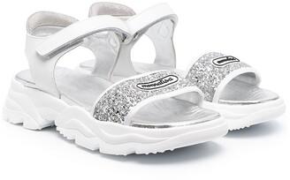 MonnaLisa TEEN glitter strap sandals