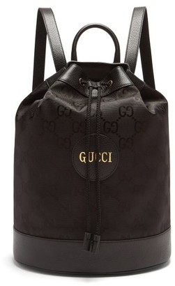 Gucci GG-print Technical Drawstring Backpack - Black