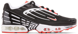 Nike Black and Red Air Max Plus III Sneakers