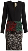 Roland Mouret Jalore Leopard-print Cady Dress - Womens - Black Multi