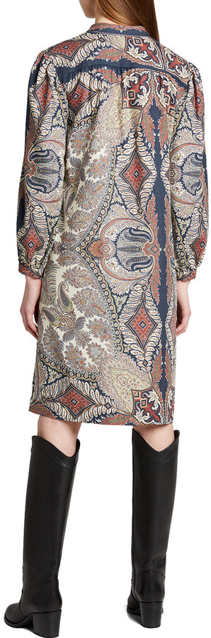 Thumbnail for your product : Etro Paisley-Print Neck-Tie Shift Dress