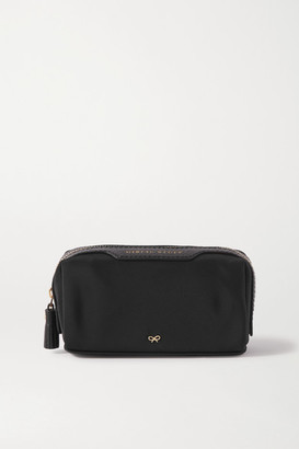 Anya Hindmarch Girlie Stuff Leather-trimmed Econyl Cosmetics Case