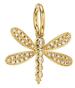 Temple St. Clair Tree of Life Diamond & 18K Yellow Gold Dragonfly Enhancer