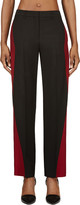Maison Margiela Black & Oxblood Colorblocked Mohair Trousers