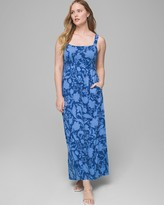 Square Neck Maxi Dress with Built-In Bra