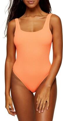 Topshop quare Neck One-PieceSwimsuit