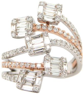 London Fine Jewelry 14K Two-Tone 1.62 Ct. Tw. Diamond Half-Eternity Ring