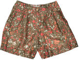 Cacharel Linen & Silk-Blend High-Waisted Shorts