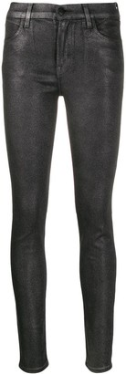 J Brand Faux-Leather Skinny Trousers