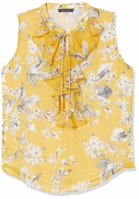 Tommy Hilfiger Women's Floral Ruffle Front Sleeveless Top