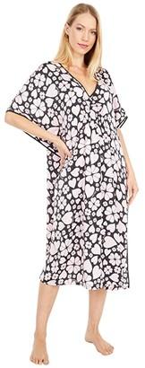 Kate Spade Charmeuse Caftan (Spade Clover Hearts) Women's Robe
