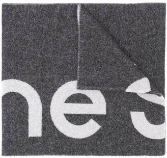 Acne Studios Unisex Logo Wool Scarf