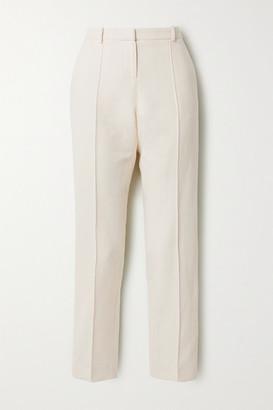 Vanessa Bruno Jame Cotton-blend Straight-leg Pants - Cream