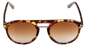 Tom Ford 54MM Browline Round Sunglasses