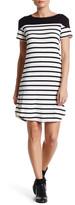 Loveappella Striped Short Sleeve Tee Dress (Petite)