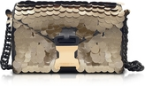Christopher Kane Gold Sequins Classic Devine Clutch w/Chain Strap