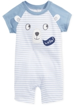 First Impressions Baby Boys' Hello Bear Striped Sunsuit