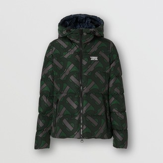 Burberry Monogram Print Hooded Puffer Jacket