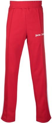 Palm Angels Logo-Print Stripe-Detail Track Pants