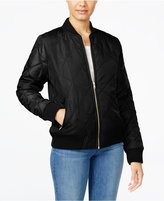 Say What ? Juniors' Quilted Bomber Jacket
