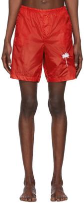 Palm Angels Red Palm Swim Shorts