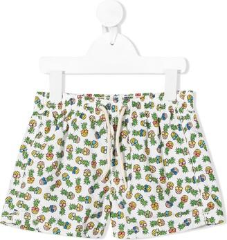 MC2 Saint Barth Pineapple Print Swim Shorts