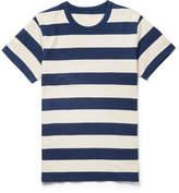 Visvim Slim-fit Striped Cotton-jersey T-shirt - Navy