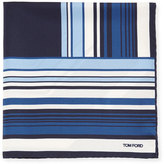Tom Ford Geo-Stripe Silk Pocket Square