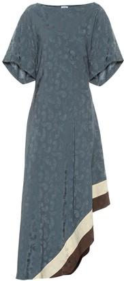 Loewe Asymmetric jacquard midi dress