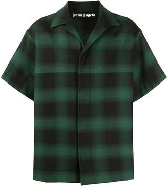 Palm Angels Check Short-Sleeve Shirt