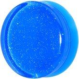 Body Candy Blue Neon Acrylic Glitter Saddle Plug (1 Piece) 26mm
